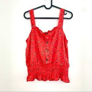 Sienna Sky Red Floral Top Size M